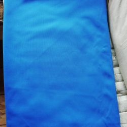 Blue fabric cut