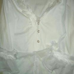 Μια νέα λευκή μπλούζα. 🇮🇹 Ιταλία. S