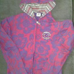 Jacket başlıklı fermuarlı çocuk ceketi