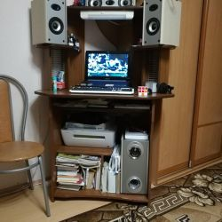 Computer desk, acoustics