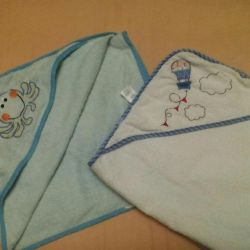 Mothercare Towel with a piece of mahr