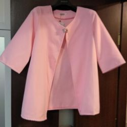 Pink jacket with brooch clip