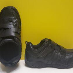πρωτότυπα δερμάτινα πάνινα παπούτσια Skechers 31-32