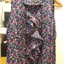 Блузка из натуральной ткани 44-46 размер