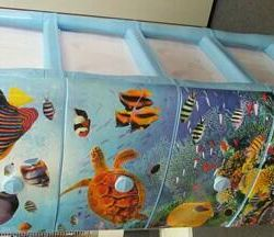 Piept de sertare ocean plastic 4 sertare