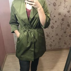 A new raincoat, in two colors, sizes from 40 to 46.