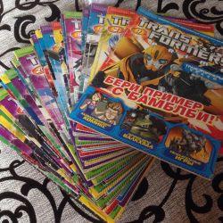 Magazine collection Transformers 65pcs