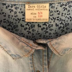 Denim shirt for girls