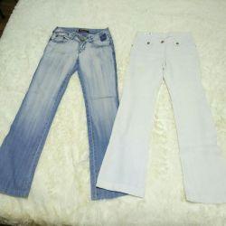 Τζιν 25-26-27 r και λευκά παντελόνια