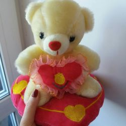 Toy bear with a heart