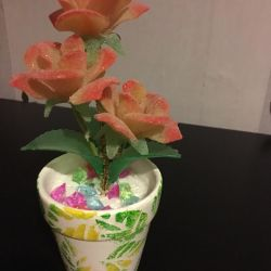 Διακοσμητικό λουλούδι σε ένα δοχείο