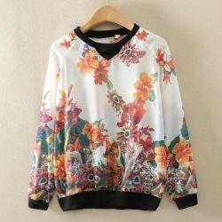 Женская блуза с цветочным принтом,новая 44-46
