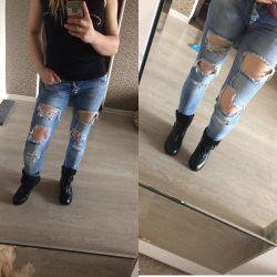 Рваные джинсы 42 размер