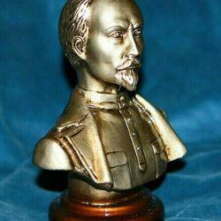 Bustul de bronz Felix Dzerzhinsky Gypsum. 15 cm