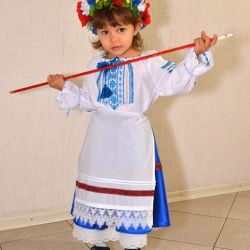 New Year's folk costume for 3-6 years for rent