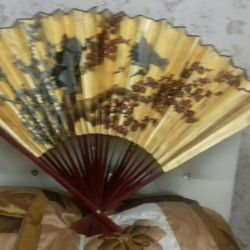 Wall large decorative fan
