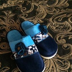 Home slippers cozy new and sledochki from the Bulgarians