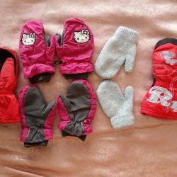 Γάντια για τα κορίτσια (πακέτα)