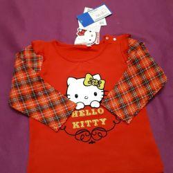 Νέο Longsleeve / T-shirt με μανίκια hello kitty 86р