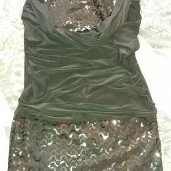 Payetler ile Mini elbise