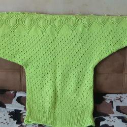 Tunică tricotată, realizată manual