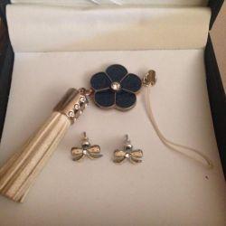 Earrings beads pendants. Exchange