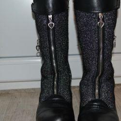 SUPER ζεστές χειμωνιάτικες μπότες από γνήσιο δέρμα 33r