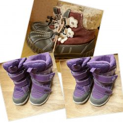 Winter shoes gray 28-r feolet29-p both for 600