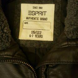 Children's leather jacket esprit new