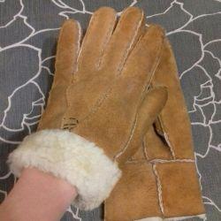 Fur gloves