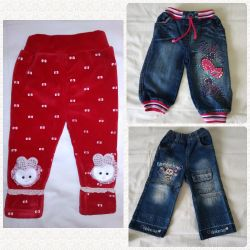 Jeans and pants on 6m-1,5g, 70-86 cm (3 pieces), OTL