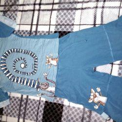 T-shirt + shorts