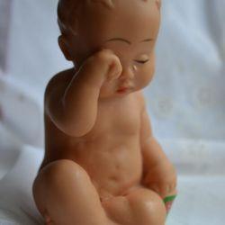 Vinyl baby doll Biserka Iugoslavia.
