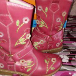 Cossacks μπότες γνήσιο δέρμα με τακούνια.