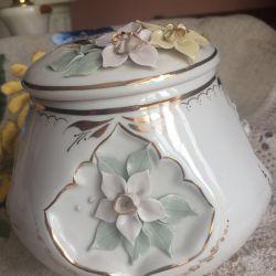 Handmade vase Kislovodsk porcelain