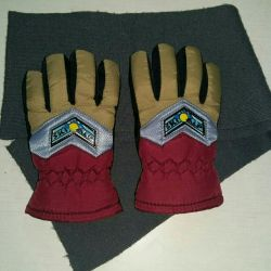 New gloves, scarf