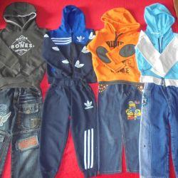 Jumpsuit, jeans, sweatshirt, jeans for 98-104