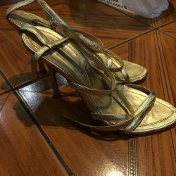 Golden sandals, good condition