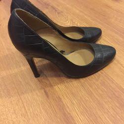 Mango leather shoes