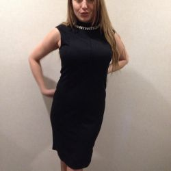 New knitted dress with a zipper