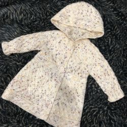 Cardigan coat for a girl 1-2 years old