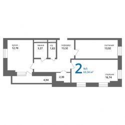 Кімната, 65 м²