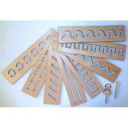 Educational wooden rulers