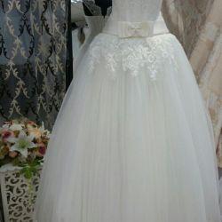 Steaming wedding dress