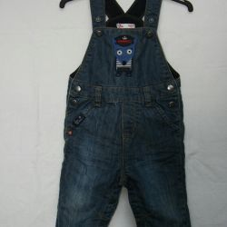 Jeans semi-overalls, 9-12 months