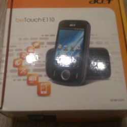 a box with documents from Acer beTouch E110