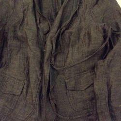 Пиджак летний лeн , 50-52 б/ у, в хорошем состояни