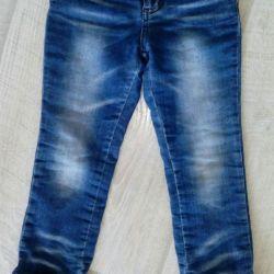 Jeans pe fleece 5-6l (folosit putin)