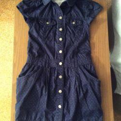 Джинсовое платье H&M из Америки 9-10 лет