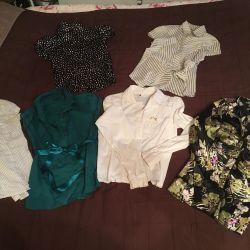 Many blouses